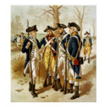 Infantry Of The Revolutionary War Poster