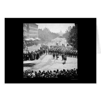 Infantry Parade on Pennsylvania Avenue 1865 Card