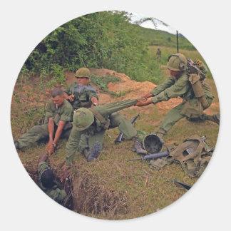 Infantry Platoon in Operation Oregon Vietnam War Classic Round Sticker