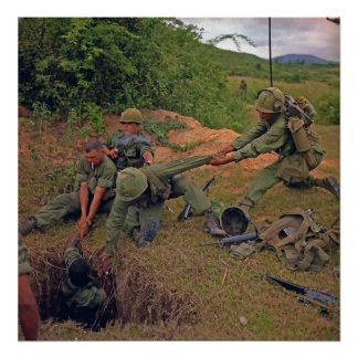 Infantry Platoon in Operation Oregon Vietnam War Poster
