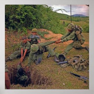 Infantry Platoon in Operation Oregon Vietnam War Poster