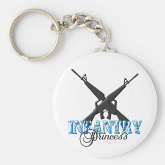 INFANTRY PRINCESS with hearts Basic Round Button Keychain