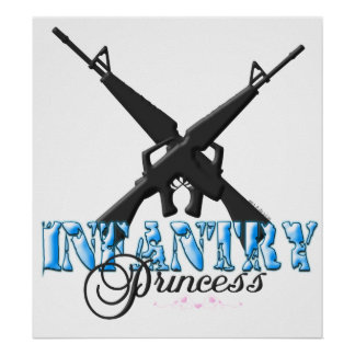 INFANTRY PRINCESS with hearts Poster