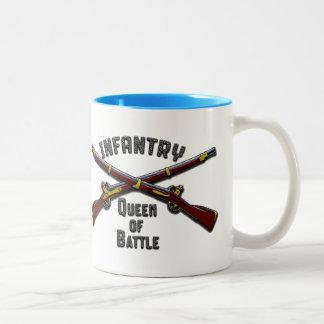 Infantry - Queen of Battle - Drinkware Two-Tone Coffee Mug