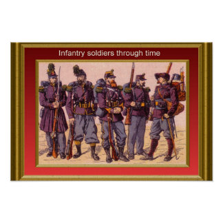 Infantry through the ages 4 poster
