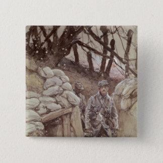 Infantrymen in a Trench, Notre-Dame de Lorette Button