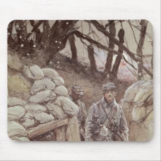 Infantrymen in a Trench, Notre-Dame de Lorette Mouse Pad