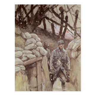 Infantrymen in a Trench, Notre-Dame de Lorette Postcard