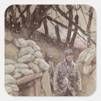 Infantrymen in a Trench, Notre-Dame de Lorette Square Sticker