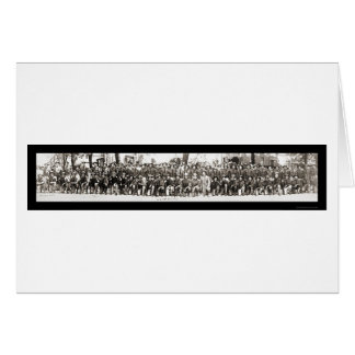 Infantrymen Rifles WWI Photo 1917 Greeting Card