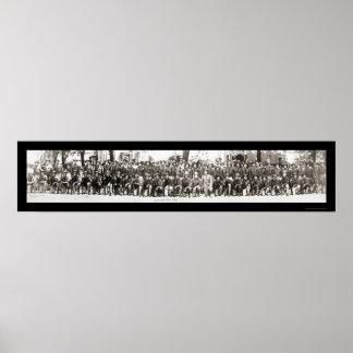 Infantrymen Rifles WWI Photo 1917 Print