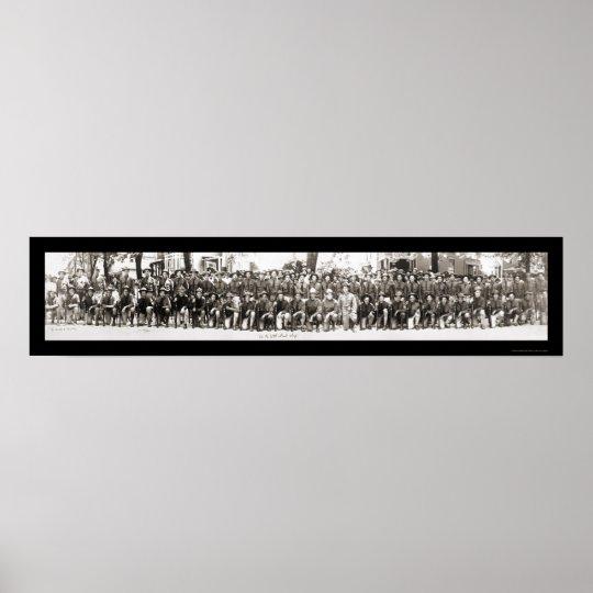 Infantrymen Rifles WWI Photo 1917 Poster