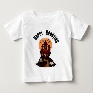 Beach Themed Infant's Happy Haunting Halloween Tshirt