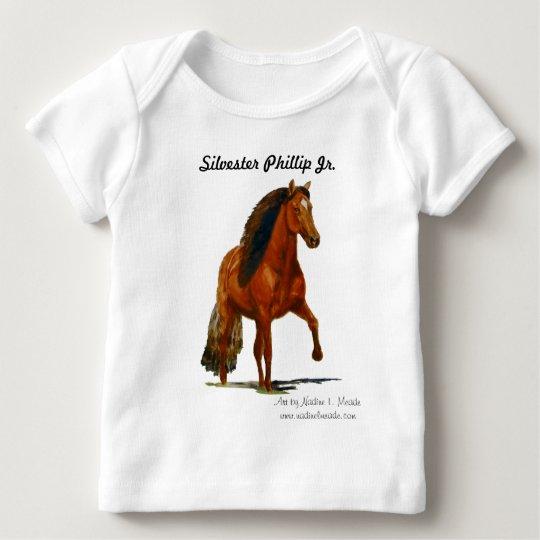 Infant's long sleeve Tshirt, Red Peruvian gaiting Baby T-Shirt