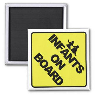 Infants on board 2 inch square magnet