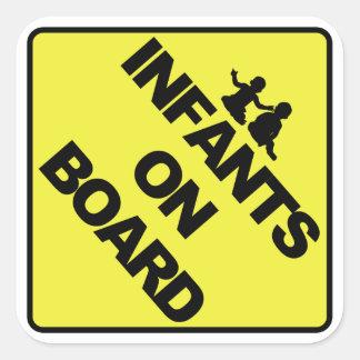 Infants on board square sticker