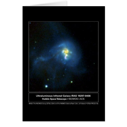 Infared Galaxy Hubble Telescope Photo Greeting Card