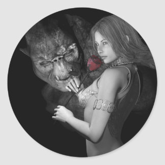 Infatuated  Roses Classic Round Sticker