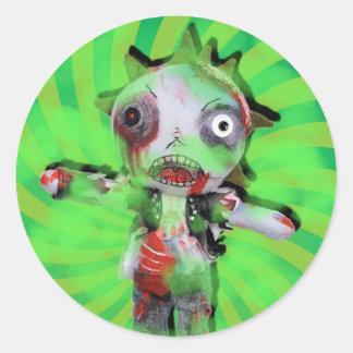 Infección de Kidz del zombi Pegatina Redonda