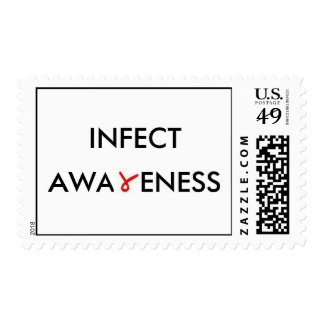 INFECT AWARENESS POSTAGE STAMP