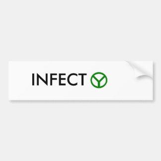 INFECT peace Bumper Sticker