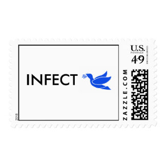 INFECT PEACE POSTAGE STAMP