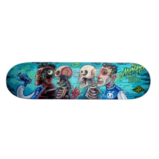 Infected & Injected - Sk8 Street Art Skate Board Deck