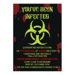"Infected Zombie Halloween Invitation 5"" X 7"" Invitation Card"