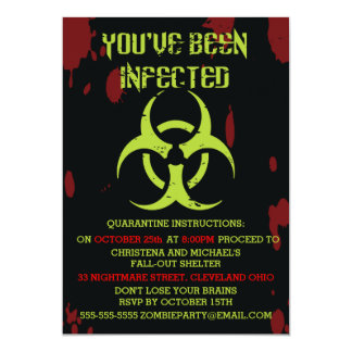 Infected Zombie Halloween Invitation