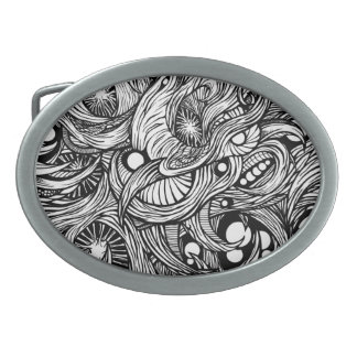 infection buckle oval belt buckle