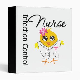 Infection Control Nurse Chick v2 3 Ring Binder