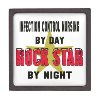 Infection control nursing by Day rockstar by night Premium Trinket Boxes