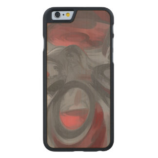 Infection Pastel Abstract Carved® Maple iPhone 6 Slim Case