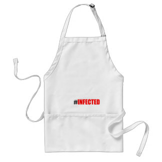 infection weird short hashtag become black tee mor adult apron