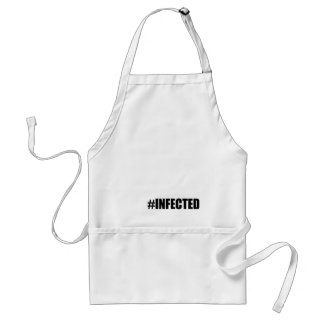 infection weird short hashtag become red tee morta adult apron