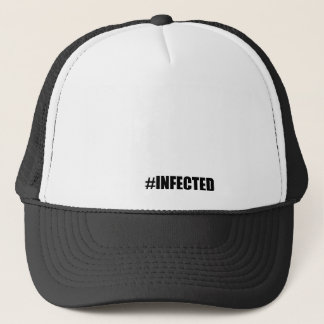 infection weird short hashtag become red tee morta trucker hat