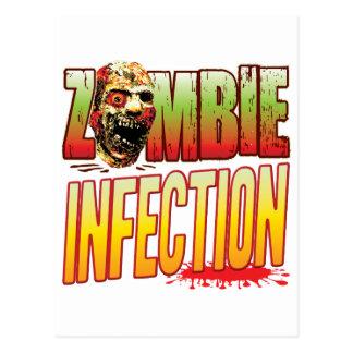 Infection Zombie Head Postcard
