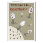 Infectious Love Greeting Card