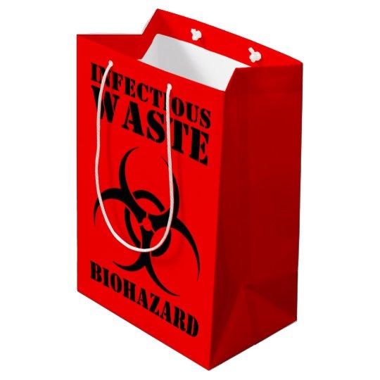 Infectious Waste Biohazard Symbol Medium Gift Bag Zazzle