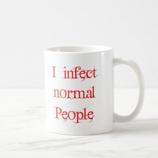Infecto a gente normal tazas de café