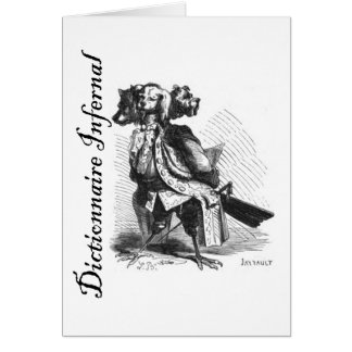 Infernal Dictionary - bird with three dog heads! Card