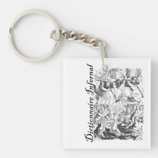 Infernal Dictionary - bunch of angels Single-Sided Square Acrylic Keychain