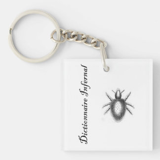 Infernal Dictionary-demon? tick? flea? Single-Sided Square Acrylic Keychain