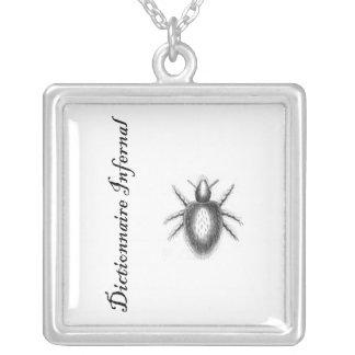 Infernal Dictionary-demon? tick? flea? Square Pendant Necklace