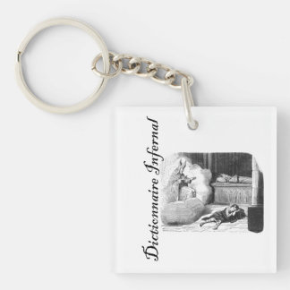 Infernal Dictionary-kid having a dream in a crypt Single-Sided Square Acrylic Keychain