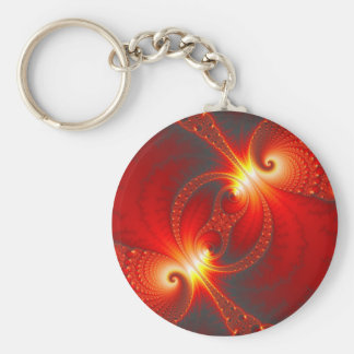 Infernal - Fractal Art Basic Round Button Keychain