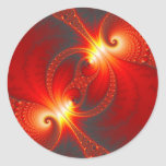 Infernal - Fractal Art Classic Round Sticker
