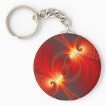 Infernal - Fractal Art Keychain