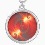 Infernal - Fractal Art Silver Plated Necklace