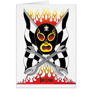 Inferno Luchador Mexican Wrestler Greeting Card